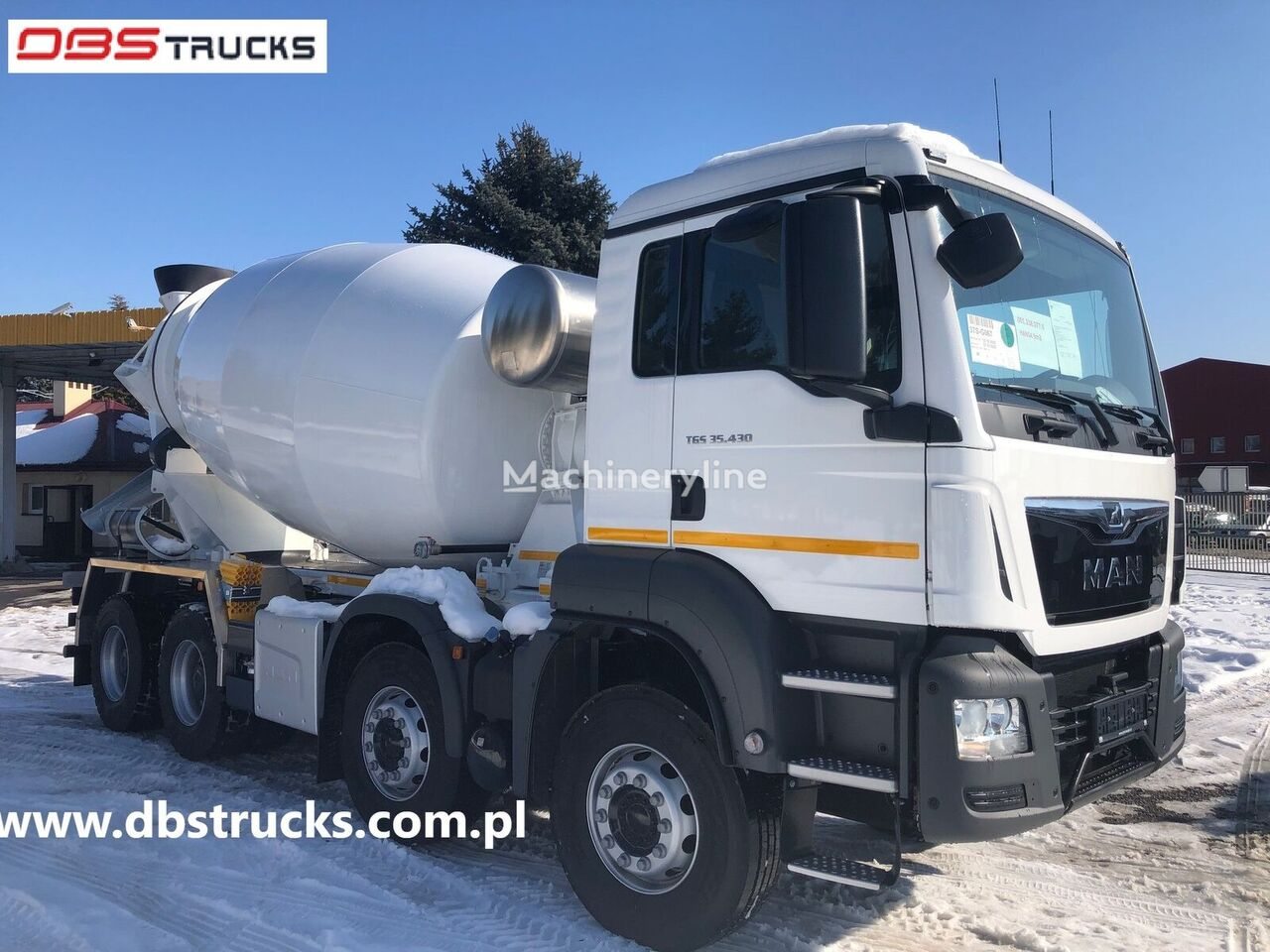 camion malaxeur MAN TGS 35.430, 8x4 BB, EURO 6, YEAR 2022,  9m - NEW neuf
