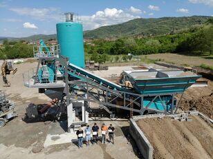 centrale à béton CONSTMACH Full Automated Mobile Concrete Batching Plant 30M3 Capacity neuve
